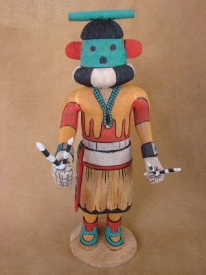 "Hopi Indian Hand Carved ""Halato"" Kachina by Elmer Adams! Native American"