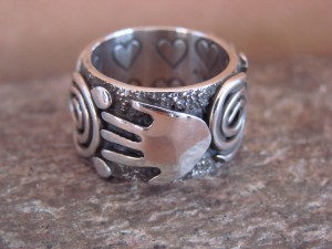 Native American Jewelry Sterling Silver Ring by Alex Sanchez Size 6 1/2