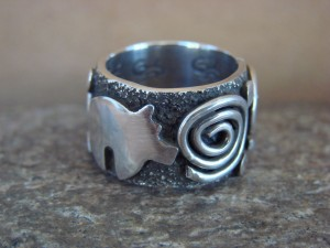 Native American Jewelry Sterling Silver Ring by Alex Sanchez Size 6