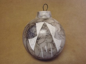 Native American Horse Hair Hand Etched Christmas Ornament! Pottery - Vail