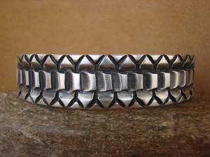 Native American Jewelry Hand Stamped Sterling Silver Bracelet Jerrold Tahe