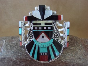 Zuni Indian Sterling Silver Turquoise, Coral Ceremonial Bracelet! Phil Gia