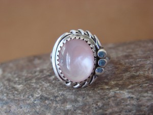 Navajo Indian Jewelry Sterling Silver Pink Shell Ring Size 7 by Cadman