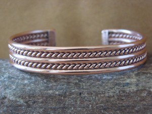 Navajo Native American Jewelry Handmade Copper Bracelet by Elaine Tahe!