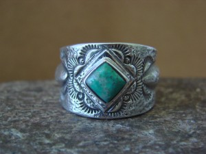 Native American Jewelry Sterling Silver Turquoise Ring! Size 9 Billie