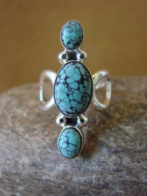 Native American Jewelry Sterling Silver Turquoise Ring! Size 7 Barney