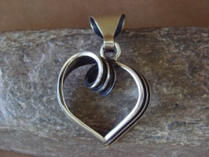 Native American Jewelry Sterling Silver Pendant by Tom Hawk!