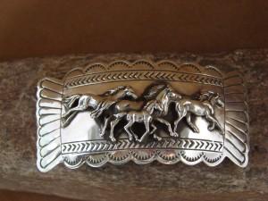 Navajo Indian Jewelry Sterling Silver Horse Barrette! Carson Blackgoat