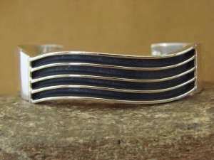 Native American Indian Jewelry Sterling Silver Bracelet by James Bahe!