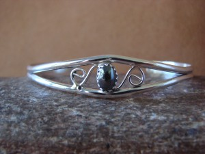 Native American Indian Jewelry Sterling Silver Onyx Bracelet