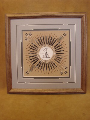 Native American Indian Authentic Navajo Sandpainting by Samuel Tsosie
