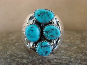 Navajo Jewelry Sterling Silver Turquoise Men's Ring by Spencer! Size 13
