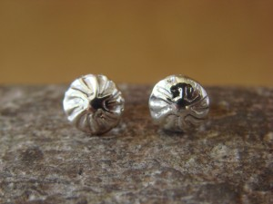 Native American Indian Jewelry Sterling Silver Post Earrings - Marvin Arviso