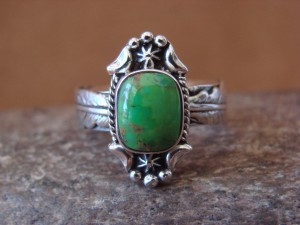 Native American Jewelry Sterling Silver Turquoise Ring! Size 8 Platero