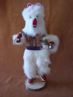 Navajo Indian Handmade Bear Kachina Dancer by V. Tom!