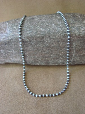 """Southwestern Jewelry Sterling Silver Chain Necklace 16"""" Long x 1/8"""""""