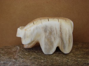 Zuni Indian Hand Carved  Antler Bear Fetish by Brandon Phillips!