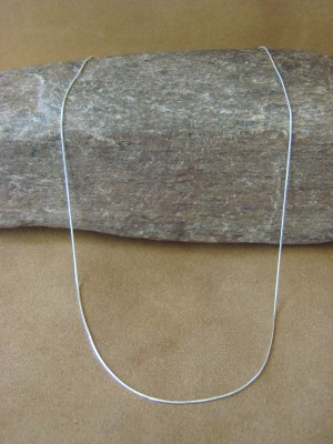 """Southwestern Jewelry Sterling Silver Snake Chain Necklace 20"""" Long x 1MM"""