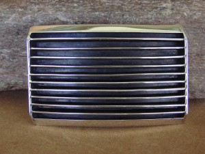 Navajo Indian Jewelry Sterling Silver Ribbed Belt Buckle by Tom Hawk!