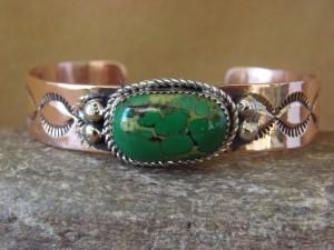 Native American Jewelry Copper Malachite Bracelet by Jackie Cleveland!
