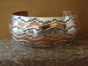 Navajo Indian Hand Stamped Copper & Sterling Silver Bracelet by Etsitty!