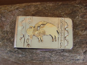 Native American Jewelry Hand Stamped Money Clip! 12 kt. Gold Fill