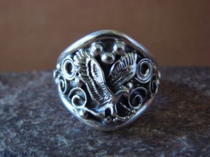 Navajo Indian Sterling Silver Handmade Eagle Ring by Yazzie! Size 11