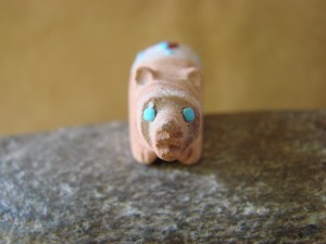 Zuni Indian Hand Carved Sandstone Bear by Danette Laate!
