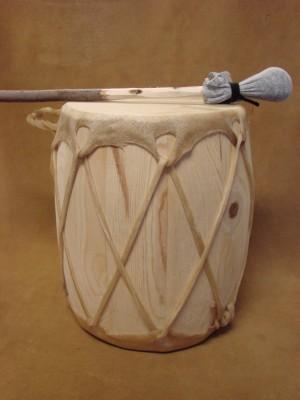 Handmade Native American Drum - Rawhide Skinned - DRM050