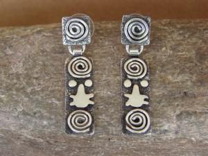 Native American Sterling Silver Petroglyph Earrings by Alex Sanchez!