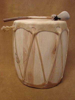 Handmade Native American Drum - Rawhide Skinned - DRM051