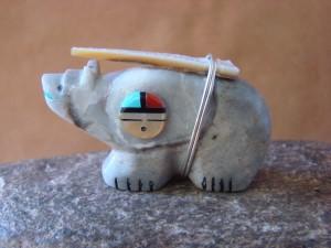 Zuni Indian Hand Carved Bear Fetish by Davin Leekya