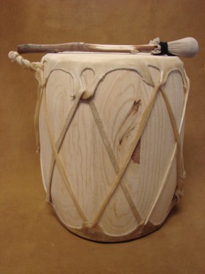 Handmade Native American Drum - Rawhide Skinned - DRM052