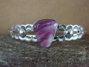 Native American Jewelry Sterling Silver Purple Spiny Oyster Bracelet! Lester James