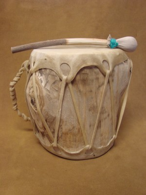 Handmade Native American Drum - Rawhide Skinned - DRM053