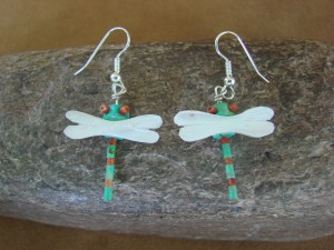 Hand Carved Dragonfly Fetish Earrings by Matt Mitchell!
