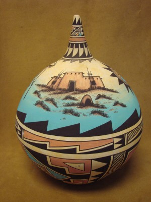Acoma Indian Pottery Handmade & Painted Pot by Westly Begaye! Hand Coiled