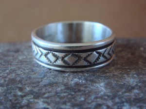 Native American Jewelry Sterling Silver Ring Band by Bruce Morgan! Size 12