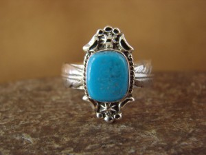 Native American Jewelry Sterling Silver Turquoise Ring! Size 7 Platero