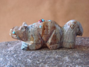 Zuni Indian Hand Carved Squirrel Fetish by Danette Laate