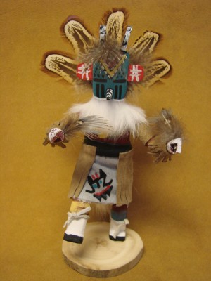 Native American Navajo Indian Handmade Butterfly Man Kachina Dancer