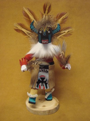 Native American Navajo Indian Handmade Ahoto Badger Kachina Dancer