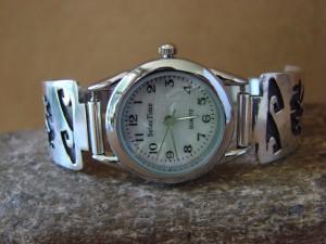 Native American Indian Jewelry Sterling Silver Walking Bear Lady's Watch