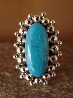 Native American Jewelry Sterling Silver Turquoise  Ring!  Size 6