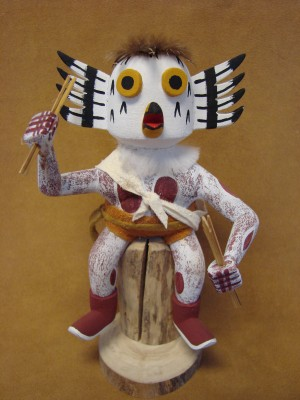 Native American Navajo Indian Handmade Owl Kachina Dancer! by Benally