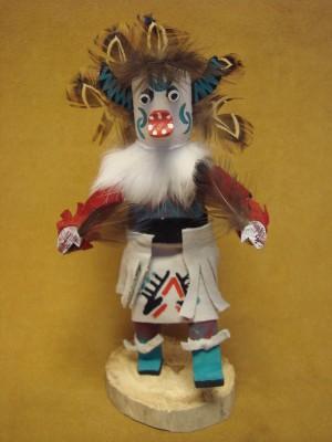 Native American Navajo Indian Handmade White Ogre Kachina Dancer