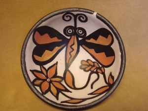 Santo Domingo Kewa Handmade & Painted Butterfly Bowl By Billy Veale! Native American
