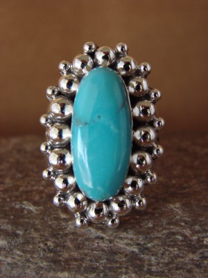 Native American Jewelry Sterling Silver Turquoise  Ring! Size 9