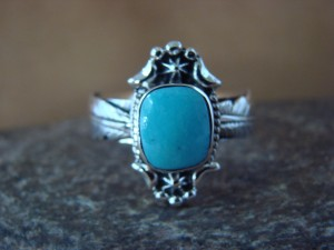 Native American Jewelry Sterling Silver Turquoise Ring! Size 10 1/2 Platero