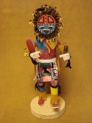 Native American Navajo Indian Handmade Sunface Kachina Dancer